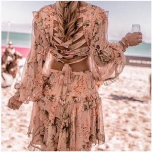 Zimmermann inspired floral dress size S